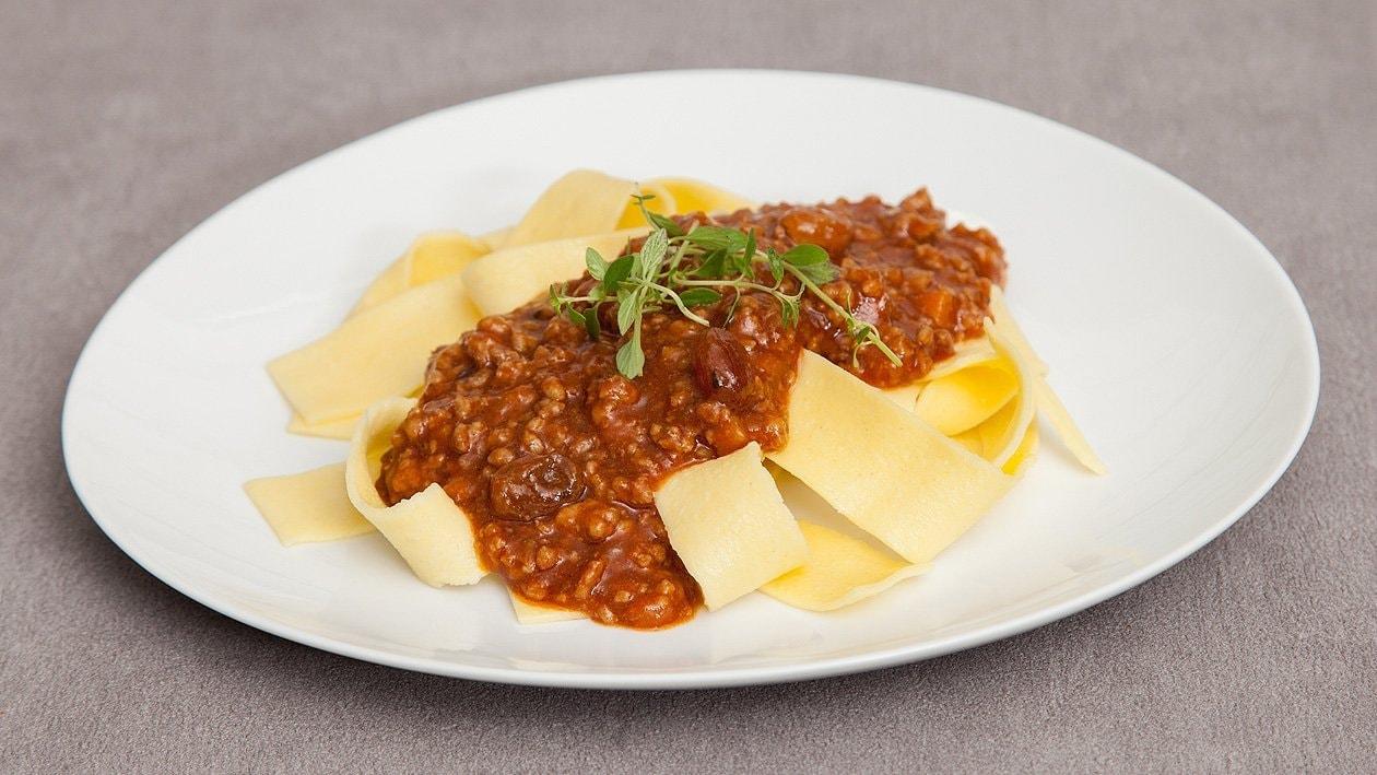 Pasta mit Wildschweinbolognese