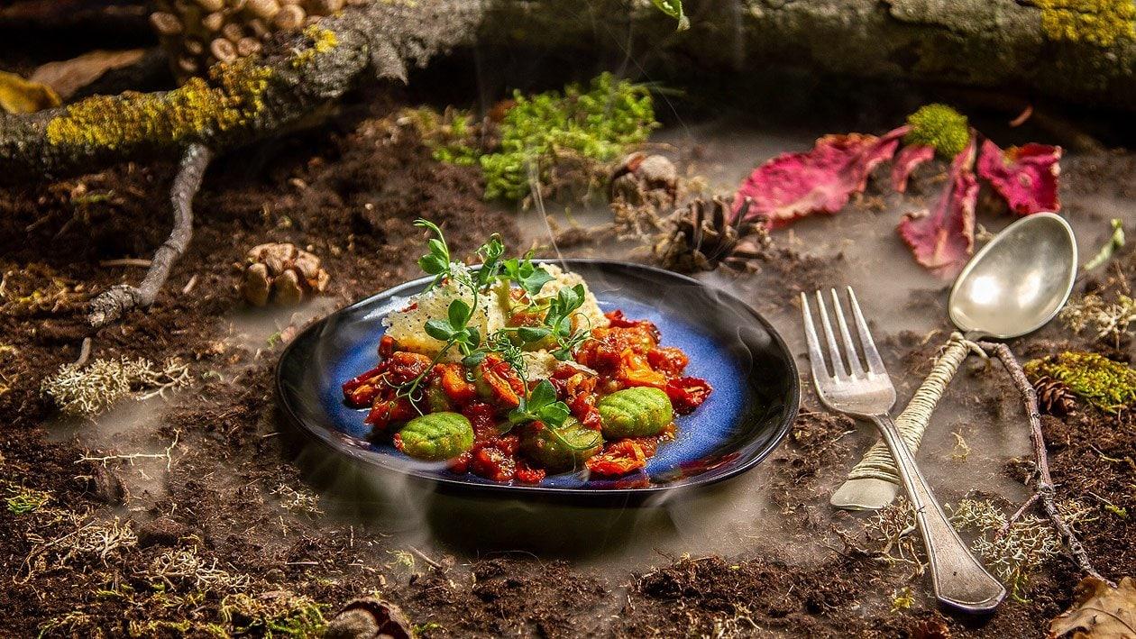 Bärlauch Gnocchi mit Tomatenragout