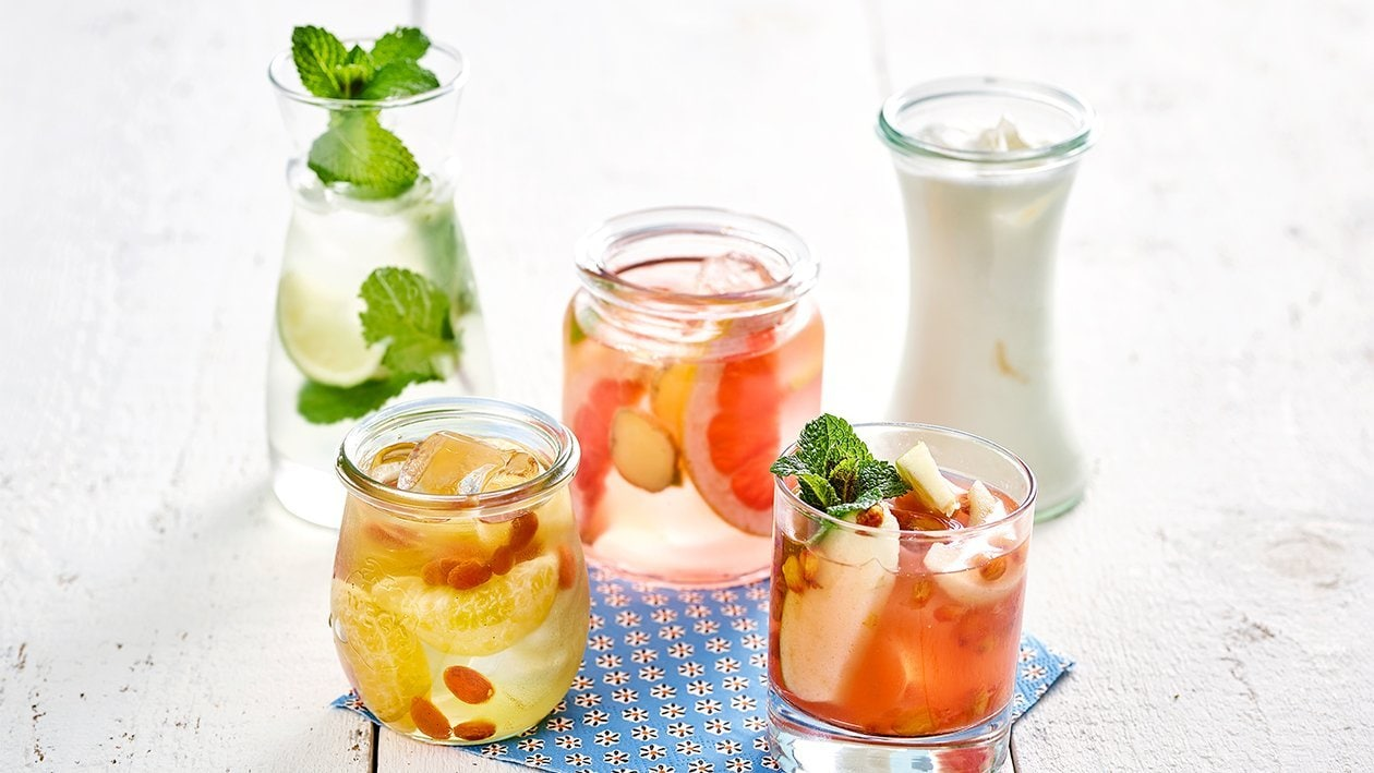 Rosa Grapefruit Ingwer Wasser